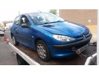 BREAKING PEUGEOT 206 S 5 DOOR HATCH 1.1 2004 BLUE MANUAL PETROL