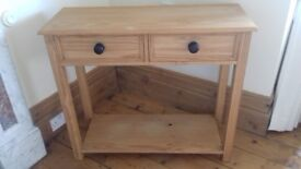Pine console/hall table.
