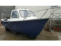 Baracuda fast fisher 17ft with 70hp mercury power trim and tilt