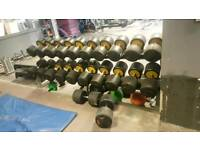 30-48kg Dumbbell and rack
