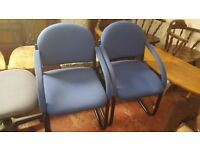 Two Blue Occasional Office Chairs in Great Condition