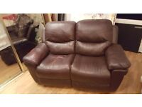 Leather two man rocking couch