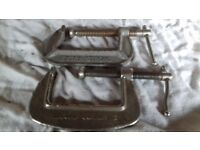 2x 3inch G Clamps (silver/grey)