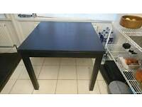 IKEA BJURSTA extendable dining table black/brown
