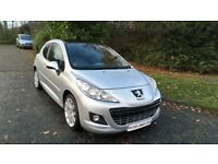 PEUGEOT 207 1.6 HDI ALLURE 11 REG 3 DR IN SILVER WITH BLACK TRIM, SERVICE HISTORY AND MOT NOV 2018