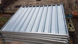10 x metal security fence panels