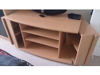 Tv, DVD, Games Beech Cabinet