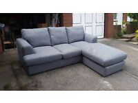 **Bargain** NEW (ex display) Next Grey Stratus III Chaise sofa (4 seater) RRP £1125 now £500!!!
