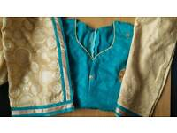 Asian Indian Pakistani clothes dress suit Kameez salwar stitched