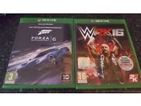 Xbox one games forza 6 and wwe 2k16
