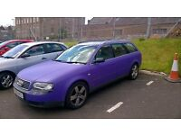 audi A6 avant , full wrapped purple, long test , injector fault , bargain drive away for £895 ono