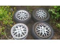 Genuine BBS RXII Alloy Wheels -Rare - 4 x 100 pcd - Polo, Corsa, Astra MX5, Ibiza, Fabia, Rover / MG