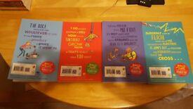 Set of four Roahl Dahl paperbacks as new shelf life only £10