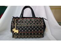 Radley Leather Handbag with multi coloured weave pattern - pristine condition