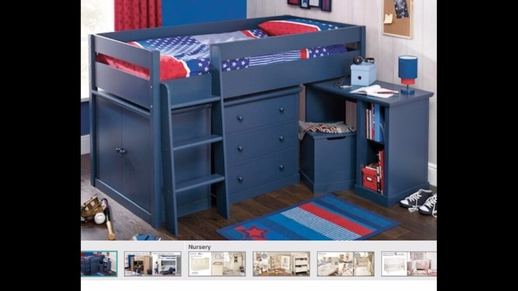 Children Bed (Cabin bed + extra wardrobes, great space saving set)