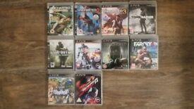 Playstation 3 Games x 10