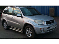 2002 02 TOYOTA RAV 4 2.0 VX VVTI MOT 01/17 (CHEAPER PART EX WELCOME)