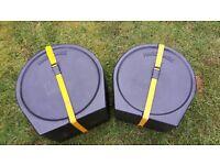 "Drum Cases - 2 Rack Tom Hardcase case's - 13"" and 14"""