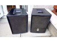 HK passive speakers 300w PR112 x 2 - cables and stands included