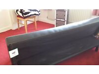 Leather double sofa bed brand new