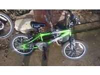 Boys green bmx bike