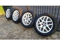 Vw Golf BBS Gti 16 montreal II 2 wheels and tyres 5x100 leon polo ibiza bora beetle