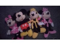 Minnie and Mickey mouse large teddy bundle toy