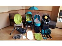 iCandy Peach Travel System Pushchair Pram Stroller Maxi Cosi Car Seat Isofix Base & More