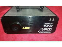 KAM Laserscan 1000 3D ILDA DMX RGB Laser Disco Club Bar DJ Party