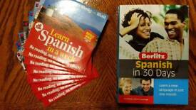 Berlitz learn spanish in 30 days. Plus bonus free 8 audio cd's