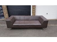 Barker & stonehouse designer leather sofa.