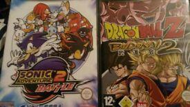 gamecube sonic adventure battle 2 and dragonball z budokai 2