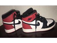 Nike Jordan 1 Bred Black Toe