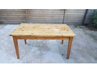 Farm house style vintage solid pine table