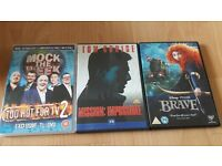 Disney's Brave - Mission: Impossible - Mock the Week: Too Hot for TV 2 - £1 each