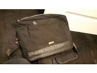 TED BAKER LONDON BLACK GOLD weekend bag new mens messenger shoulder strap handles RUKSACK