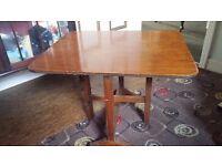 Oak card table