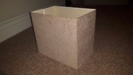 Suede effect lampshade