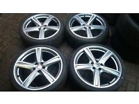 19 ALLOY WHEELS WITH NEW TYRES 5 X 108 FORD PEUGEOT CITROEN RENAULT VOLVO ETC