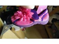 Girls beach shoes