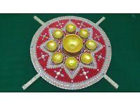 Mehndi plates / Mehndi thaal set / 8 diya's / 1 bowl / Asian Weddings