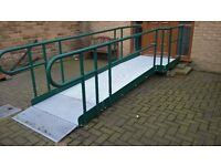 wheel chair ramp less than 1 year old it is at our house in morley leeds
