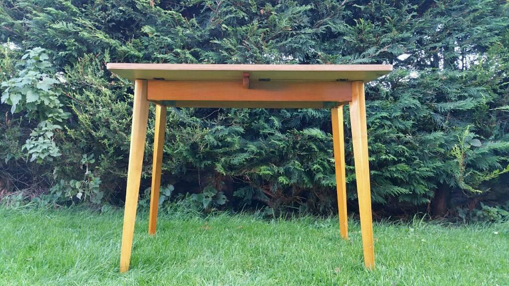 Vintage Formica Table Drop Leaf