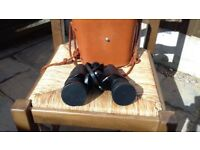 HILKA VINTAGE BINOCULARS 10X50 EXCELLENT CONDITION WITH LEATHER CASE