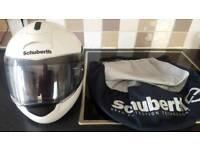 Schuberth C3 flip up motorcycle helmet white