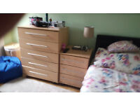 5 drawer chest + 3 drawer bedside cabinet - both of them only £89