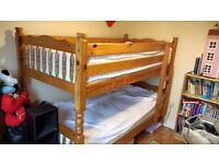 Bunk Beds, solid pine, good shabby chic project