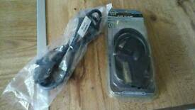 New scart to scart leads 2 ---- 1 metre and 1.5 metres