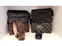 Brand new belt and bag sets LV