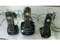 Set digital cordless phones with answer